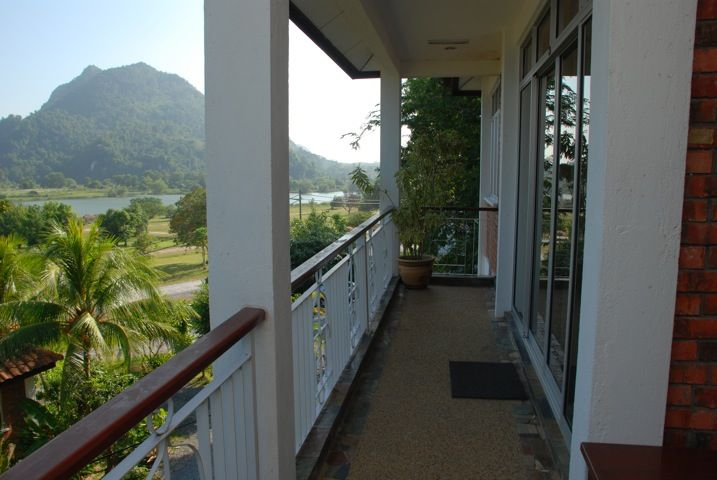Tasoh Lake Resort and Retreat, Beautiful Scenery of lake from bungalow veranda.