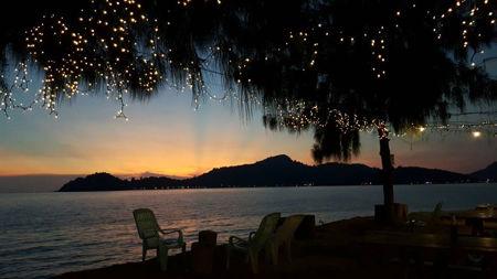sunset di marina island perak