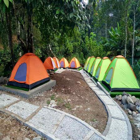 campsite tepi sungai lepok